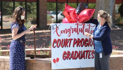 Drive-Through Graduation of Drug Court Program